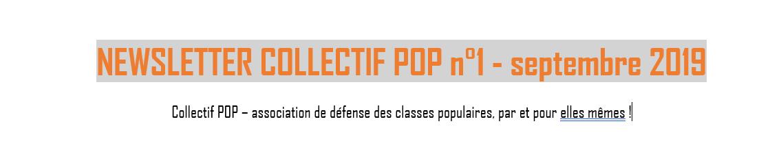C'est la rentrée ! Première newsletter de Collectif Pop.